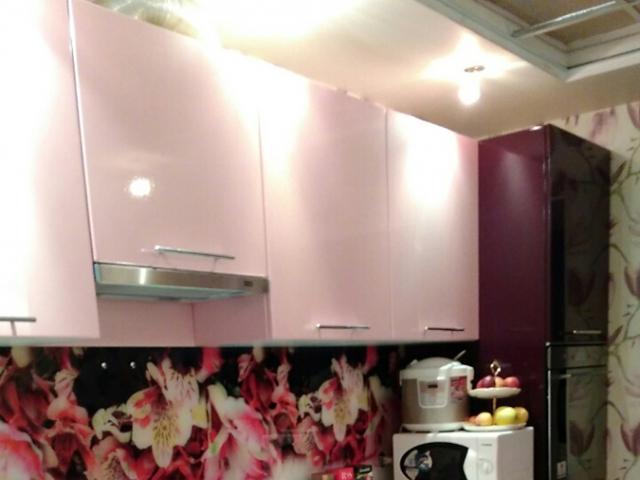 Кухня баклажан+розовый