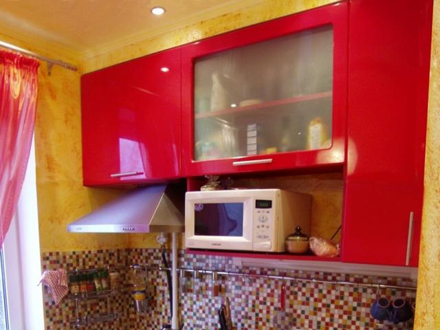 Кухня красный МДФ