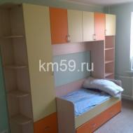Детская стенка-кровать ваниль/манго 33 110 рублей