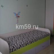 кровать детская лайм/ирис, с матрасом 12 490 рублей