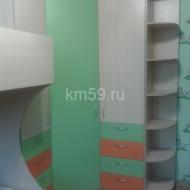 Шкафы в детскую зеленый/манго/дуб молочный комплект 30 125 рублей