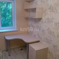 Набор школьника: стол угловой 1100*1100*750, тумба, полка подвесная дуб молочный 12 000 рублей