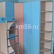Шкафы в детскую МДФ Персик/голубое небо 35 120 рублей