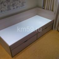 Кровать детская с ящиками ясень/белый 1840*840*650 мм 11 260 рублей