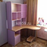 Стол угловой с надстройкой, размер 1600*1200*1950 мм клен королевский/ирис 14 574 рублей
