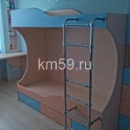 Кровать двухъярусная МДФ Персик/голубое небо 24 790 рублей