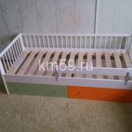 Кровать детская массив березы с ящиками 12 000 рублей, без ящиков 8 500 рублей, 1650*760*570 мм.